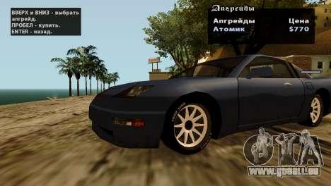 Roues de GTA 5 v2 pour GTA San Andreas dixième écran