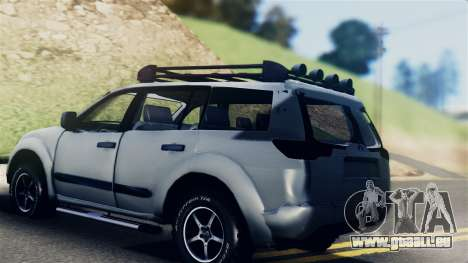 Mitsubishi Pajero 2014 Sport Dakar Offroad pour GTA San Andreas laissé vue