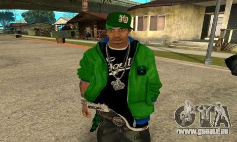 Groove St. Nigga Skin Second für GTA San Andreas
