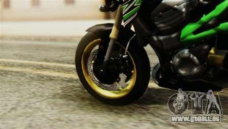 Kawasaki Z800 Modified für GTA San Andreas zurück linke Ansicht