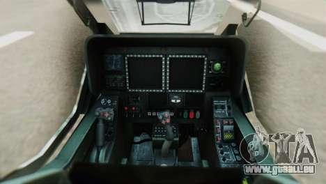 Changhe WZ-10 für GTA San Andreas Rückansicht