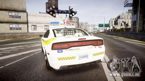 Dodge Charger Surete Du Quebec [ELS] für GTA 4 hinten links Ansicht