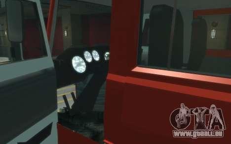 MAZ 533702 de l'EMERCOM de Russie pour GTA 4 Vue arrière