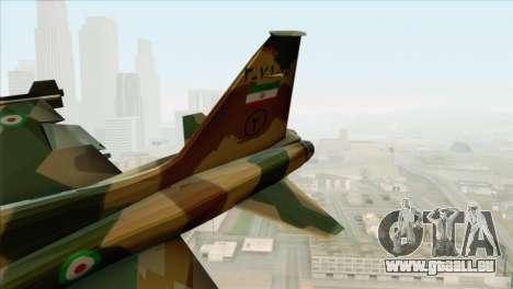 Northrop F-5ES IRIAF pour GTA San Andreas sur la vue arrière gauche