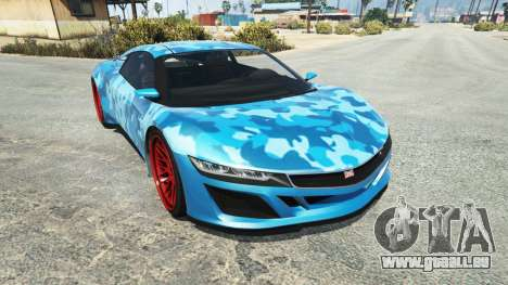 Dinka Jester (Racecar) Camo Blue für GTA 5