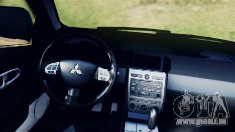Mitsubishi Pajero 2014 Sport Dakar Offroad für GTA San Andreas zurück linke Ansicht