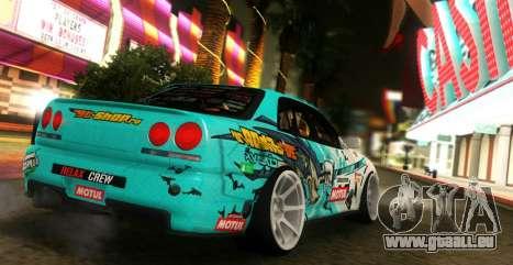 Nissan Skyline ER34 GT-SHOP pour GTA San Andreas laissé vue