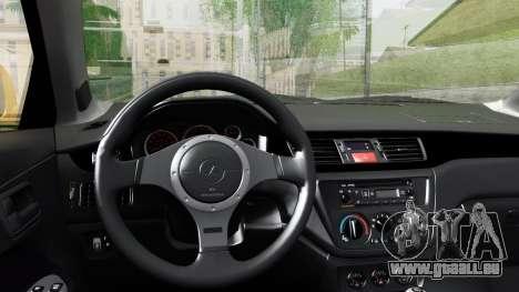 Mitsubishi Lancer Evolution IX pour GTA San Andreas vue de droite