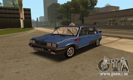 Renault 11 TXE Taxi für GTA San Andreas Räder