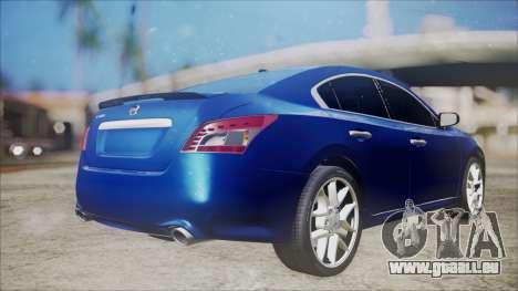 Nissan Maxima 2009 pour GTA San Andreas laissé vue