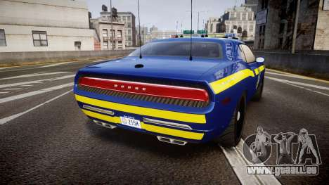 Dodge Challenger NYSP [ELS] pour GTA 4 Vue arrière de la gauche