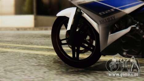 Yamaha MX KING 150 für GTA San Andreas zurück linke Ansicht