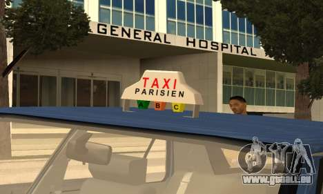 Renault 11 TXE Taxi pour GTA San Andreas moteur