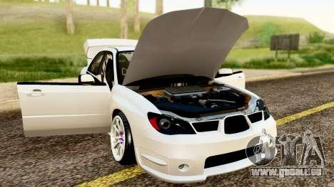 Subaru Impreza WRX STI Stance für GTA San Andreas Rückansicht