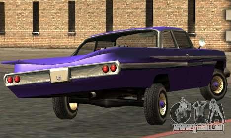 Luni Voodoo Remastered pour GTA San Andreas vue arrière
