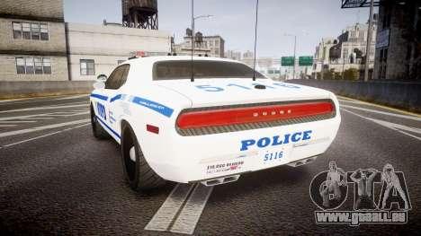 Dodge Challenger NYPD [ELS] für GTA 4 hinten links Ansicht