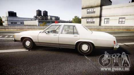 Ford LTD Crown Victoria 1987 Detective [ELS] pour GTA 4 est une gauche