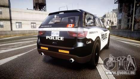 Dodge Durango Alderney Police für GTA 4 hinten links Ansicht