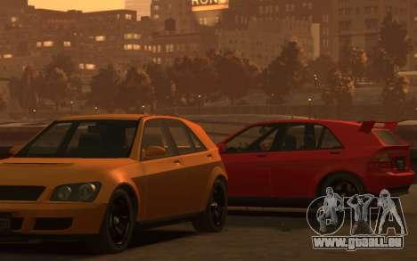 Karin Sultan Hatchback v2 für GTA 4 hinten links Ansicht