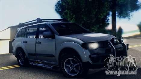 Mitsubishi Pajero 2014 Sport Dakar Offroad für GTA San Andreas