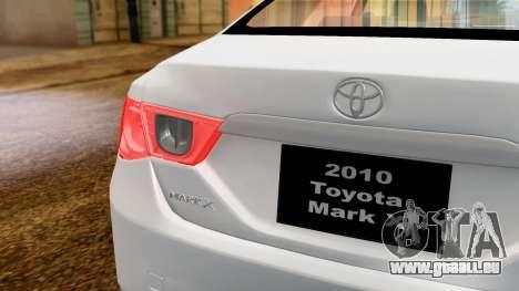 Toyota Mark X pour GTA San Andreas vue de droite