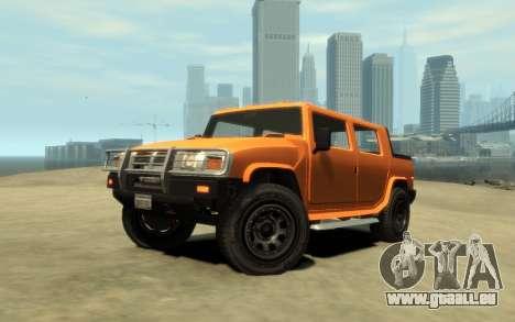 Mammoth Patriot Pickup v2 für GTA 4 Rückansicht