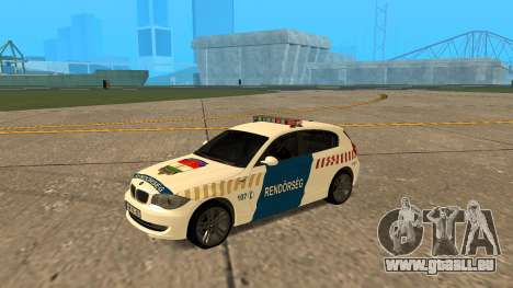 BMW 120i E87 de la Police hongroise pour GTA San Andreas