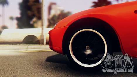 Toyota Supra für GTA San Andreas Rückansicht