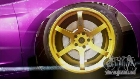 Honda CRZ Hybird Pink Cute pour GTA San Andreas vue de droite