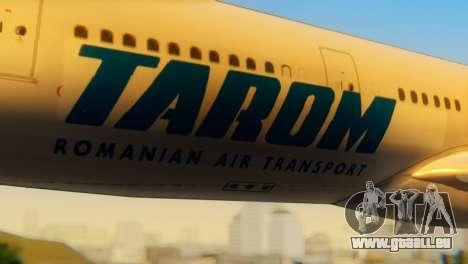 Airbus A330 TAROM Romania für GTA San Andreas Rückansicht