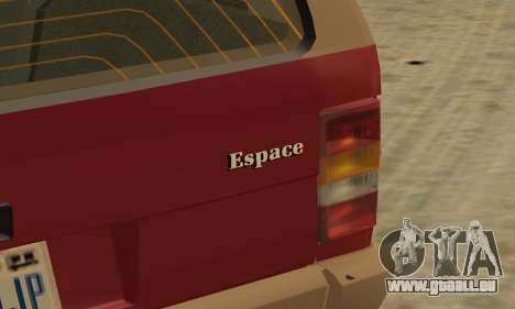 Renault Espace 2000 GTS pour GTA San Andreas roue