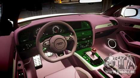 Audi S4 Avant Belgian Police [ELS] orange pour GTA 4 est une vue de l'intérieur