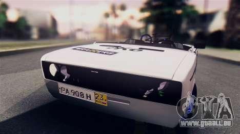 VAZ 2106 BC pour GTA San Andreas sur la vue arrière gauche