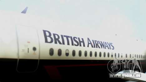 Airbus A320-200 British Airways für GTA San Andreas Rückansicht