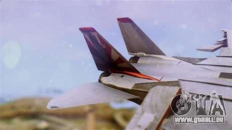 F-14A Tomcat VF-111 Sundowners High Visibility pour GTA San Andreas sur la vue arrière gauche