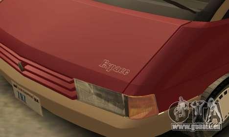 Renault Espace 2000 GTS für GTA San Andreas Innen