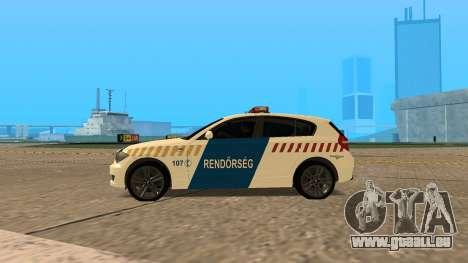 BMW 120i E87 de la Police hongroise pour GTA San Andreas laissé vue