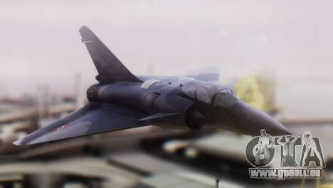 Dassault Mirage 4000 French Air Force pour GTA San Andreas vue arrière