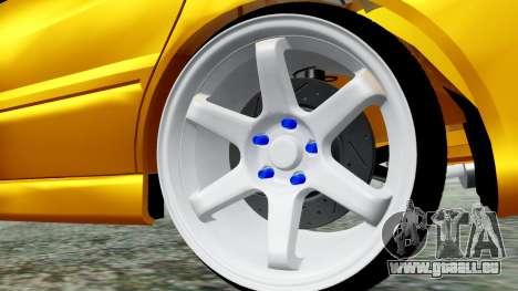 Mitsubishi Lancer Evolution IX für GTA San Andreas zurück linke Ansicht