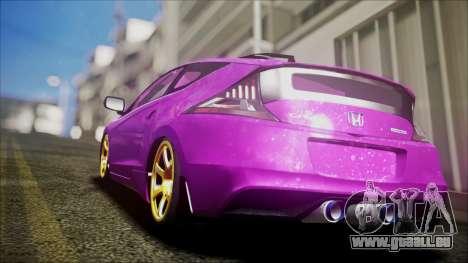 Honda CRZ Hybird Pink Cute pour GTA San Andreas laissé vue