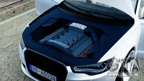 Audi A6 Stanced pour GTA San Andreas vue intérieure