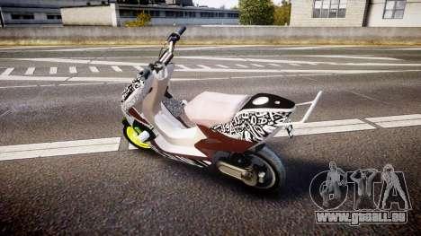 Yamaha Aerox Stunt für GTA 4 linke Ansicht