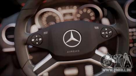 Mercedes-Benz ML 63 AMG 2014 pour GTA San Andreas vue intérieure