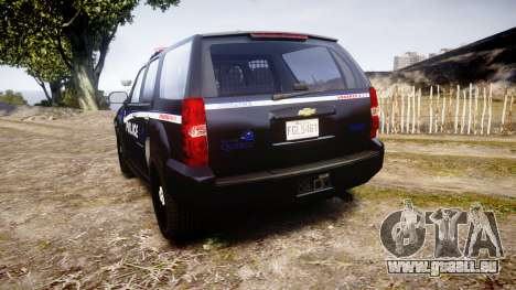 Chevrolet Tahoe SPVQ [ELS] pour GTA 4 Vue arrière de la gauche