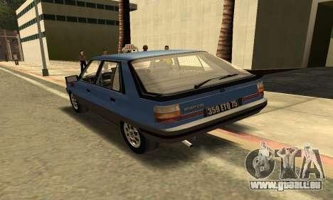 Renault 11 TXE Taxi für GTA San Andreas rechten Ansicht