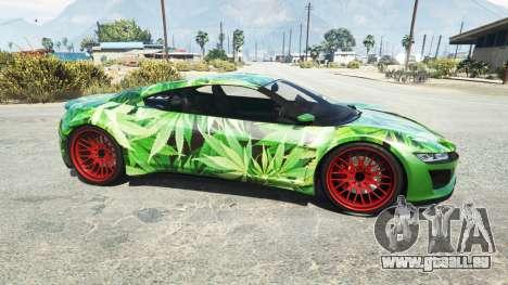 GTA 5 Dinka Jester (Racecar) Cannabis vue latérale gauche
