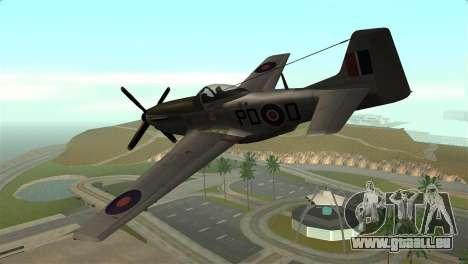 P-51D Mustang für GTA San Andreas linke Ansicht