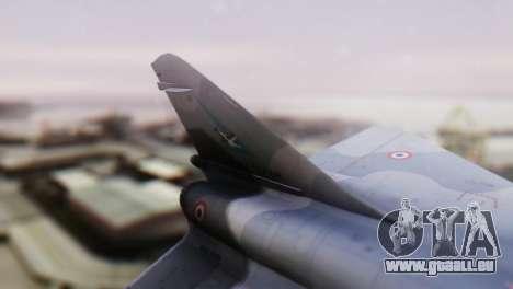 Dassault Mirage 4000 French Air Force pour GTA San Andreas sur la vue arrière gauche
