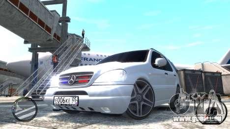 Mercedes-Benz ML 55 AMG pour GTA 4 Vue arrière de la gauche