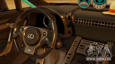 Lexus LFA 2010 OP Lilo für GTA San Andreas rechten Ansicht